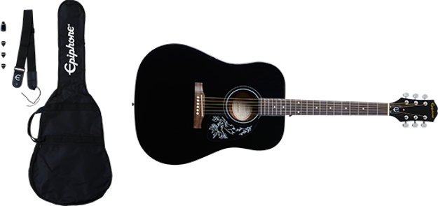Epiphone Starling Acoustic Player Pack Ebony