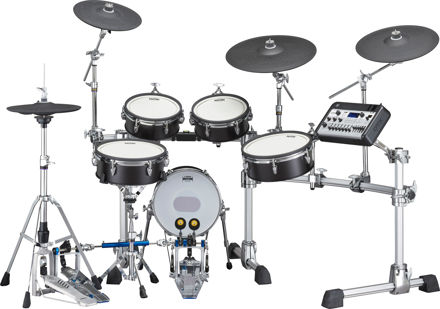 Yamaha DTX10 kit with Silicon Pads ( Color: Black Forrest)