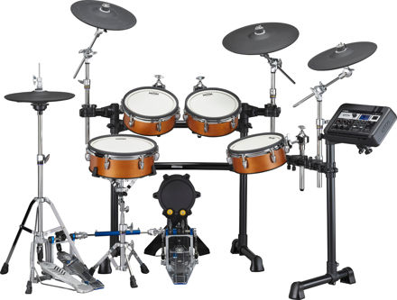 Yamaha DTX8 kit with Silicon Pads ( Color: Real Wood)